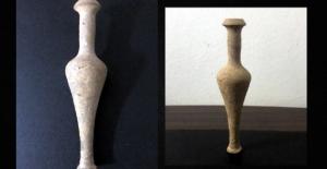 Elbistan'da yol kontrolünde tarihi eser ele geçirildi