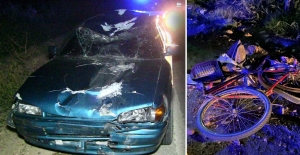 Otomobilin çarptığı bisiklet sürücüsü olay yerinde can verdi