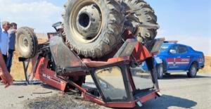 Traktör kabini hayat kurtardı