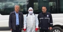 Elbistan'da servis ve köy minibüsleri dezenfekte edildi