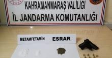 Jandarma uyuşturucu ve ruhsatsız tabanca ele geçirdi