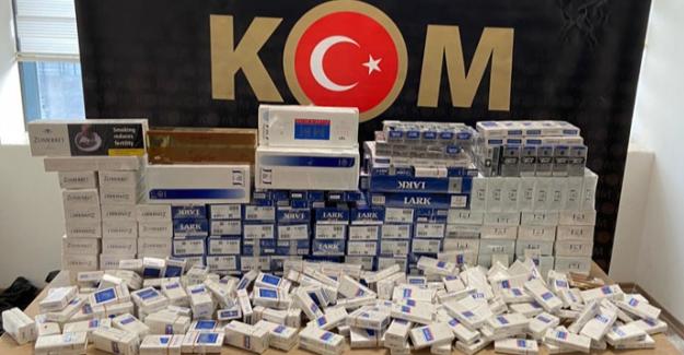Bin 420 paket kaçak sigara ele geçirildi