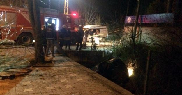 Elbistan'da su kanalına düşen otomobilin sürücüsü öldü