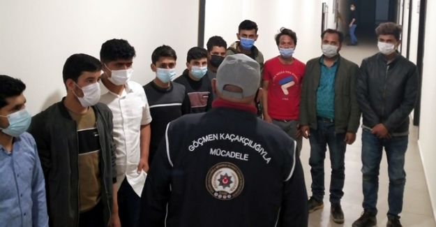 Polis 13 kaçak göçmeni yakaladı