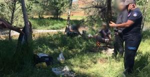 Göksun'da yasa dışı avlanan 3 kişi yakalandı