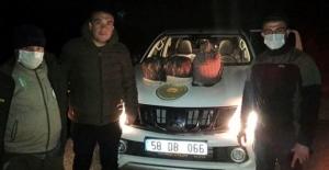 Elbistan'da kurak avı yapan 3 kişiye yasal işlem yapıldı